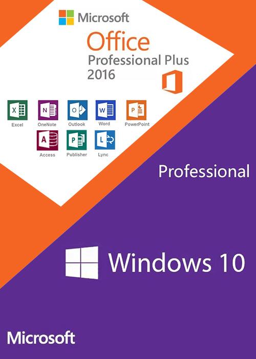 Windows10 PRO + Office2016 Professional Plus CD Keys Pack
