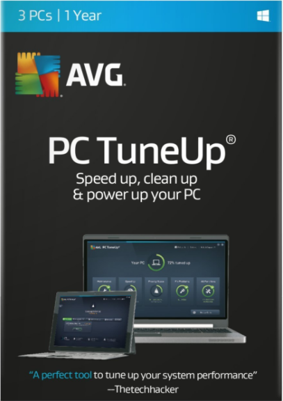 AVG TuneUp 2017 3 PC 1 YEAR Global