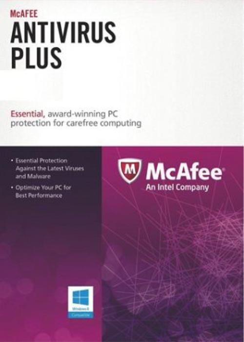 McAfee Antivirus 3 PC 1 YEAR Global