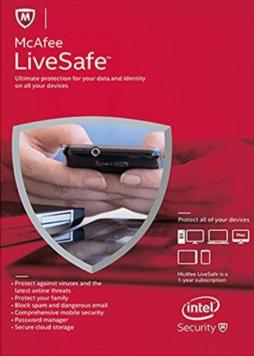 McAfee Livesafe Unlimited Devices 1 YEAR Global