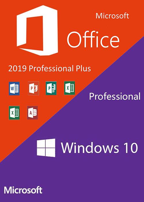 Windows10 PRO OEM + Office2019 Professional Plus CD Keys Pack